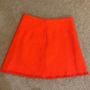 NWT ZARA Orange A-line Mini Kkirt